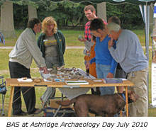 BAS at Ashridge Archaeology Day July 2010