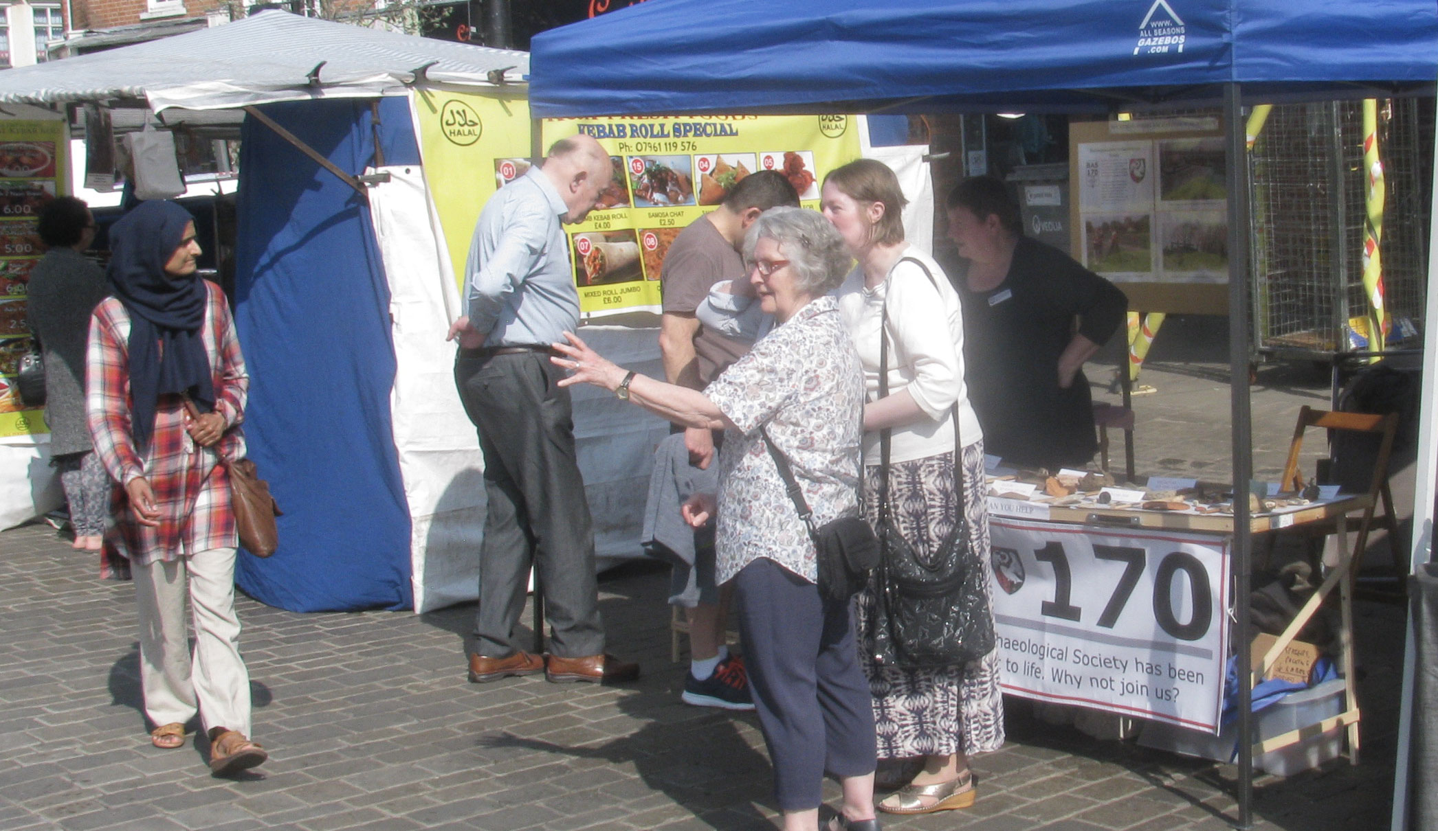 BAS market stall in High Wycombe
