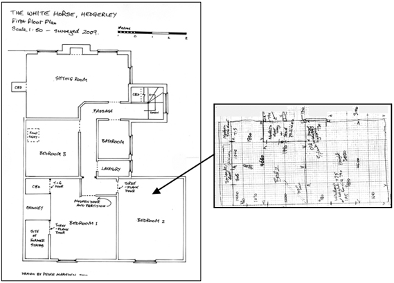 floor sketch and plan