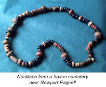 Necklace from a Saxon cemetery near Newport Pagnell